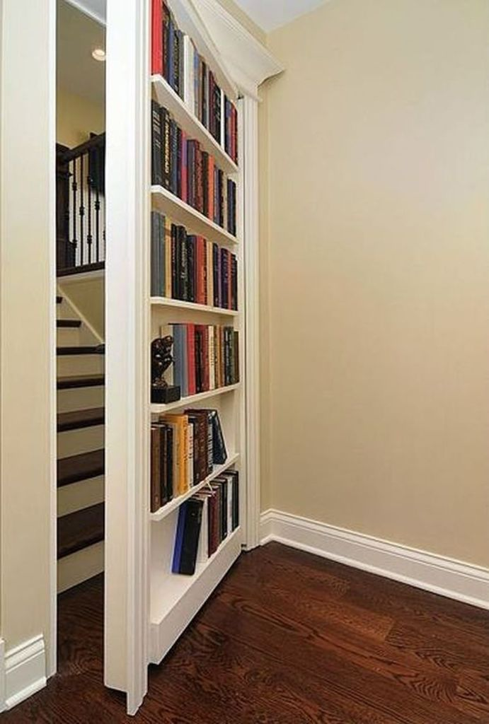 Cool hidden and pull out shelf storage ideas 15 (source pinterest.com)