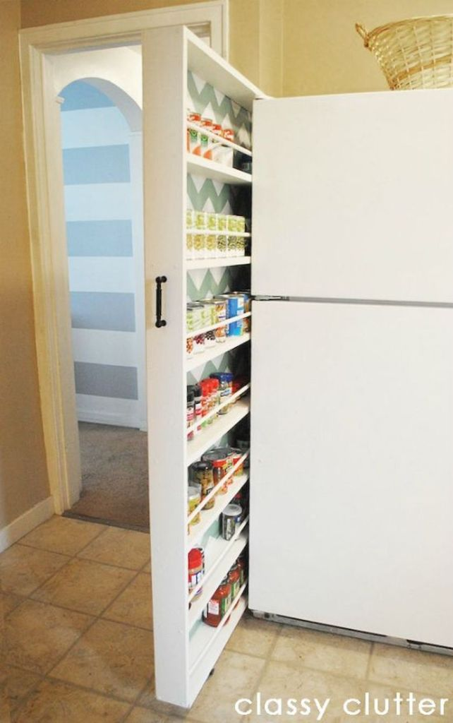 Cool hidden and pull out shelf storage ideas 3 (source pinterest.com)