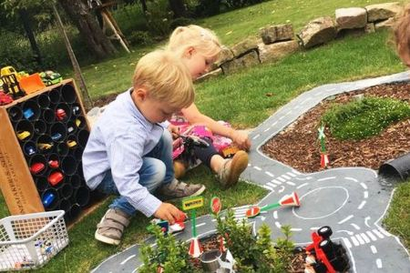 How to Make Simple Kids Playground on The Backyard