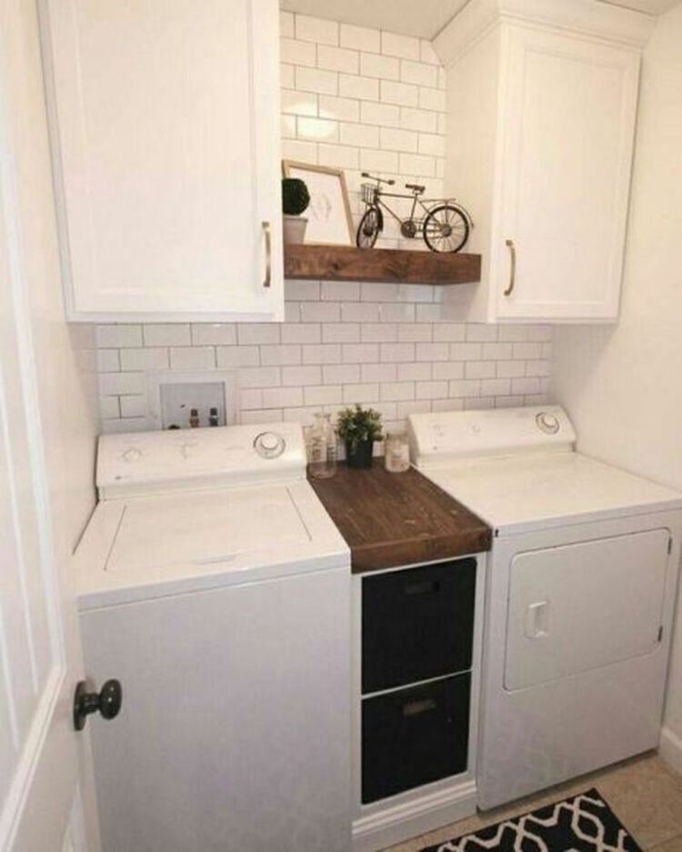 Laundry room storage with hanging shelves 3 (source pinterest.com)