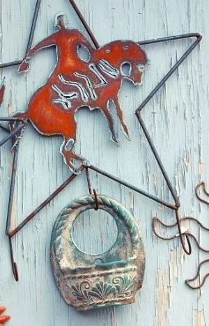 rustic metal wall art