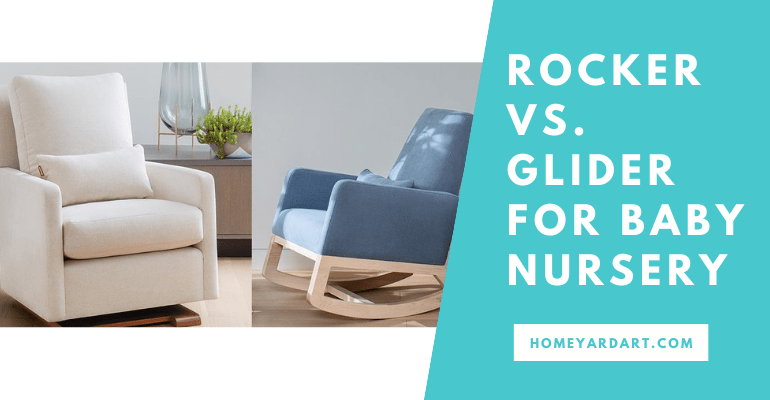 Rocker vs. glider for baby nursery