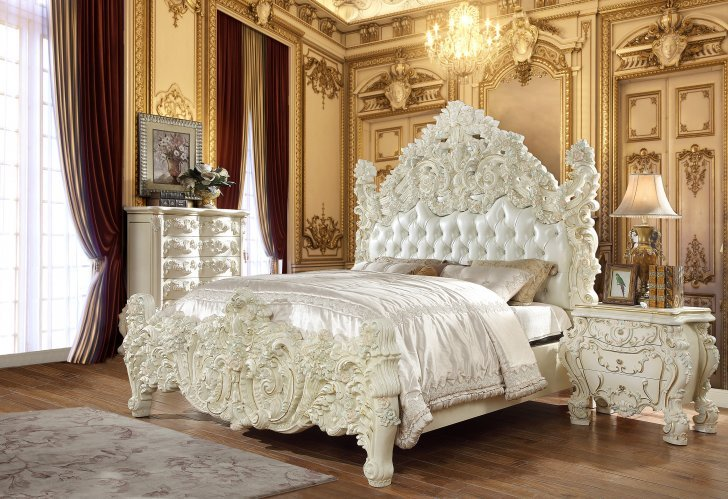 traditional california king bedroom set 5 pcs in white leather traditional style homey design hd 8089