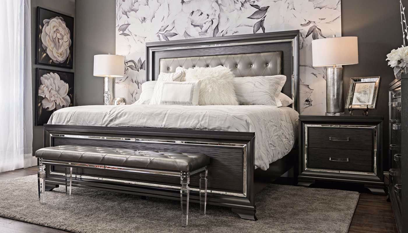 Monroe 6-piece Collection - Home Zone Furniture | Bedroom ... on Mirrors Next To Bed  id=82993