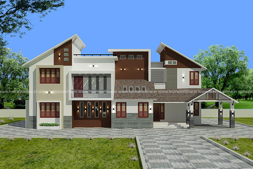 4 Bedroom Mixed Roof Home Part - 47: 3120 Square Feet 4 Bedroom Mixed Roof Residence