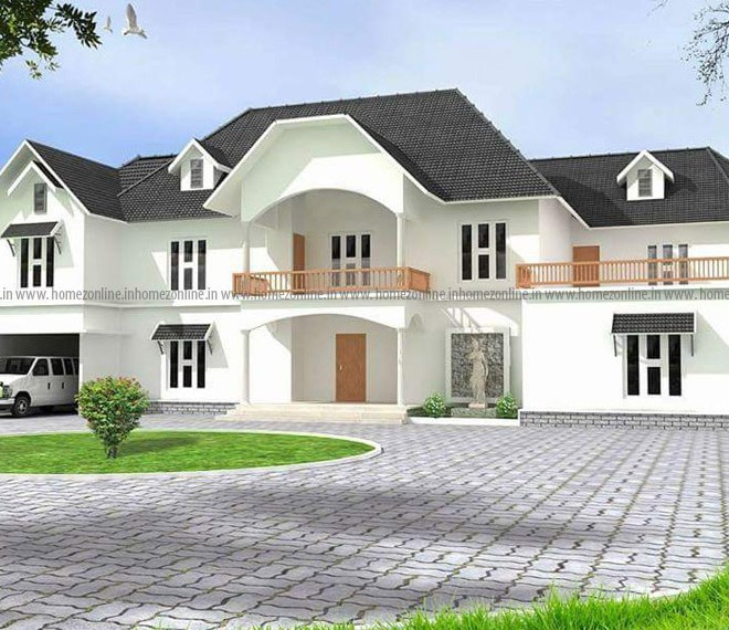 5 Bedroom Flat Roof Contemporary India Home: 30+ Modern Sloping Roof Designs Collection