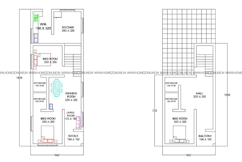 2.5 Cent Plot Double Floor House Plan