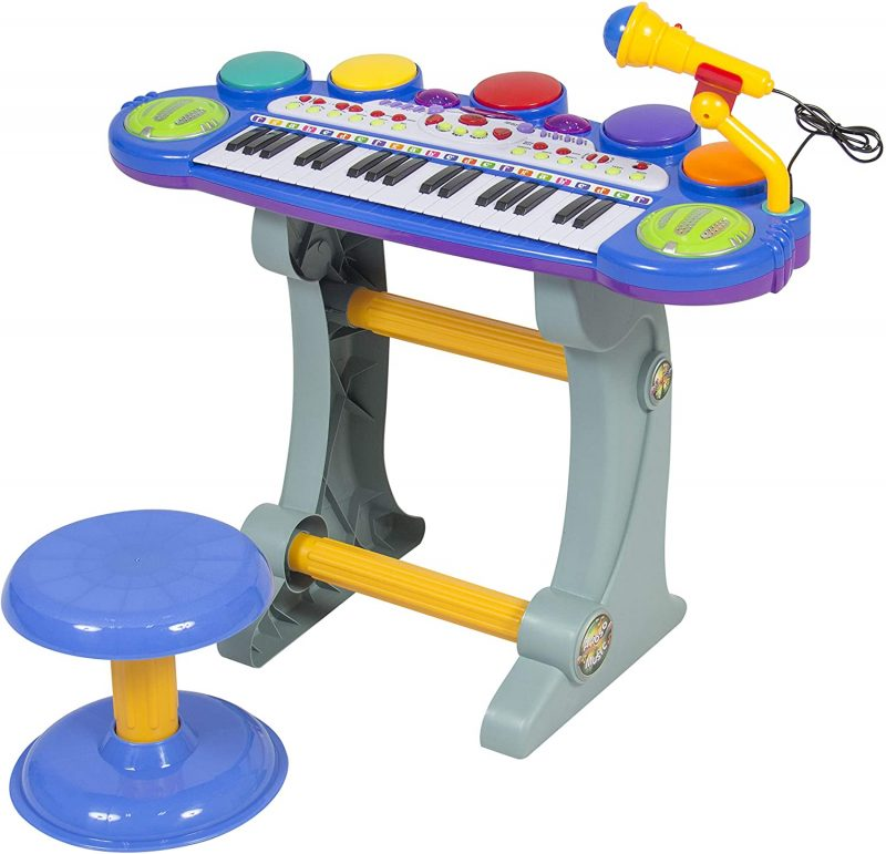 Amazon.com: Best Choice Products 37-Key Kids Electronic Musical Instrument Piano  Toy Keyboard w/ Record and Playback, Microphone, Synthesizer, Stool - Blue:  Toys & Games