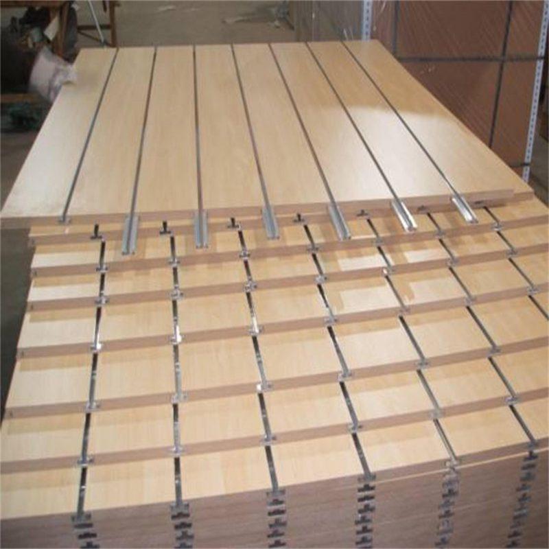 China Slatwall Panel Grooved Plywood Board and Medium Density Fiberboard - China Slotted Panel, Slatwall Board