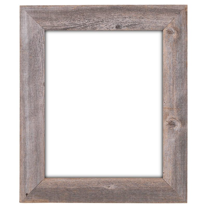 16x20 Picture Frames – Barnwood Reclaimed Wood Extra Wide Wall Frame (No Plexiglass or Back) - Rustic Decor