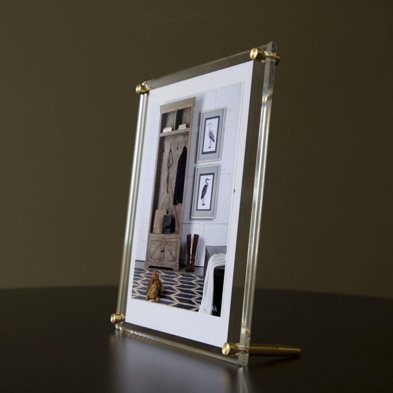 "Acrylic Bevel Tabletop Float Frame for 8"" x 10"" photos | Floating frame, Frames on wall, Frame"