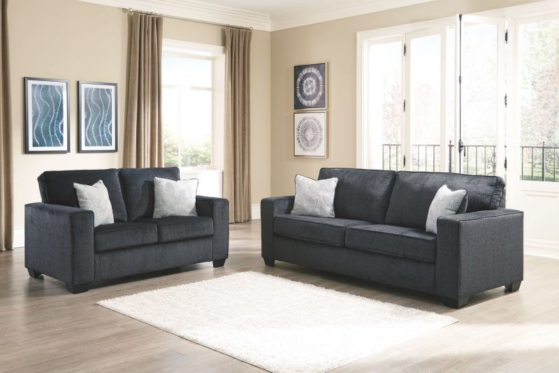 Ashley Altari Slate Sofa/Couch & Loveseat on sale at WCC Furniture &  Mattress, serving Lafayette, LA and Acadiana.