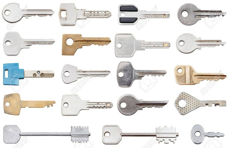 Collection Of Different House Keys Isolated On White Background Stock  Photo, Picture And Royalty Free Image. Image 26153011.