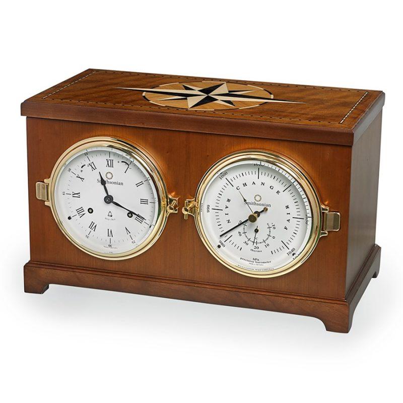 Columbus Nautical Clock and Barometer | Hanging Clocks & Barometers | Clocks  | Home Decor | ScullyandScully.com
