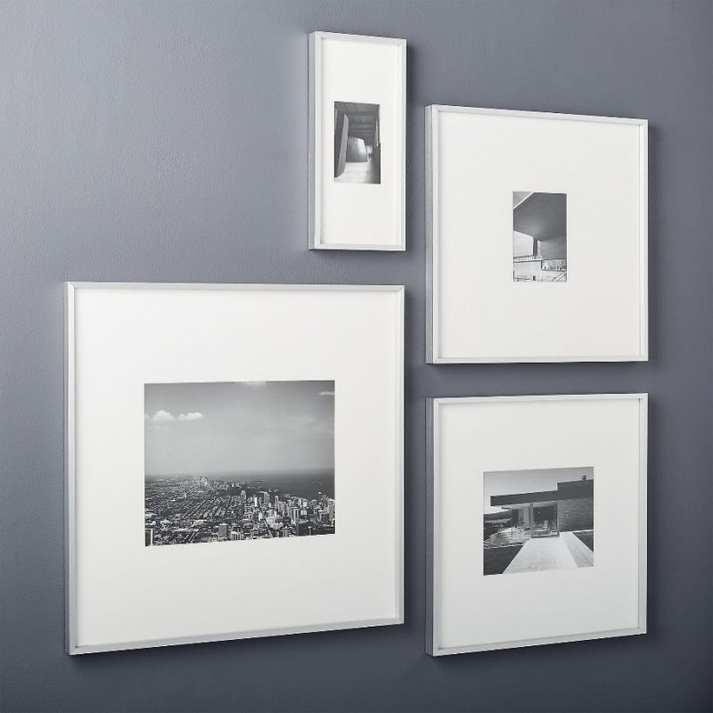 Gallery Silver Frames with White Mats | CB2 | Picture frame gallery, 11x14 picture frame, Unique picture frames