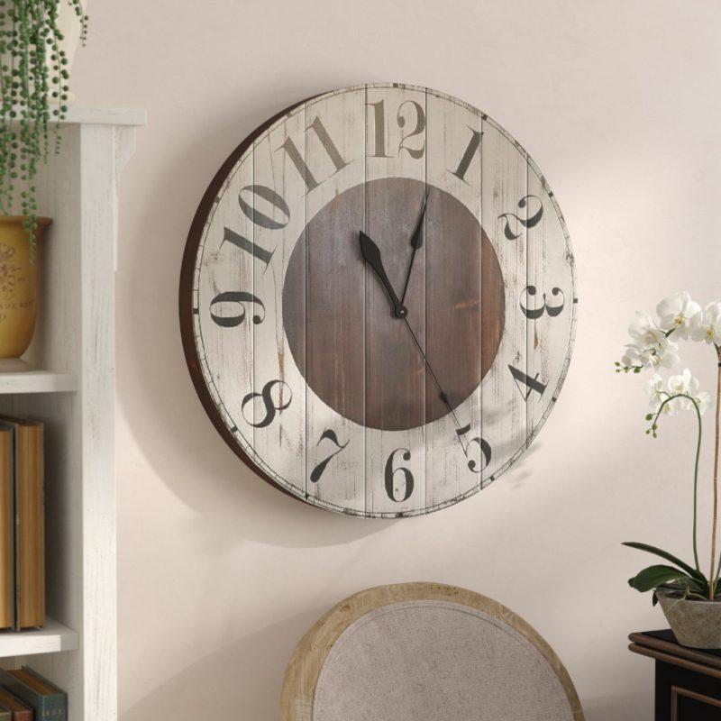 Gracie Oaks Mayberry Farmhouse Wall Clock & Reviews | Wayfair