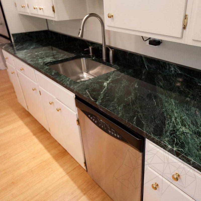 Green Emperador Marble Polished Countertop 250 x 65 x 3 cm -  PIATRAONLINE.com