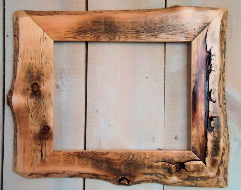 Handmade Rustic Wood Frame, 11x14 Clear Poly | Wood picture frames, Rustic frames, Handcrafted picture frames