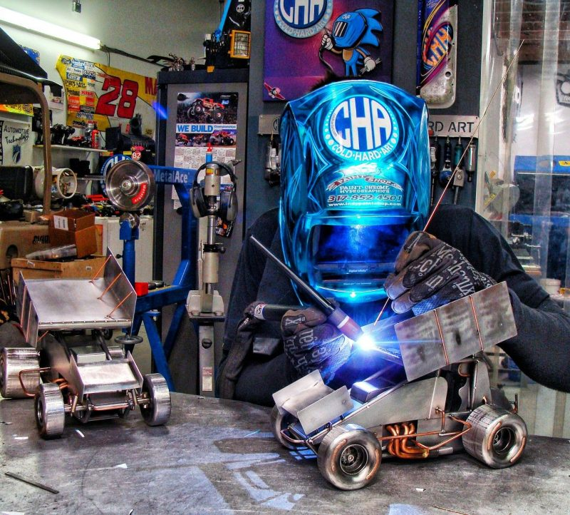TIG welding sprint cars metal Arc Motorsports Miller welders sculpture weld art Thomas patsis cold hard art