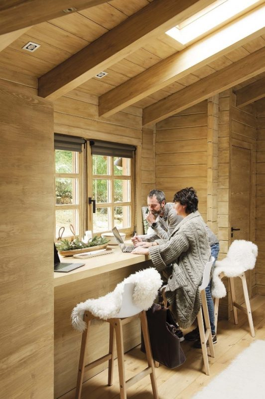 38 Perfect Ideas for Rustic Home Office Decoration - homimu.com | Rustic  home offices, Rustic cabin, Rustic house