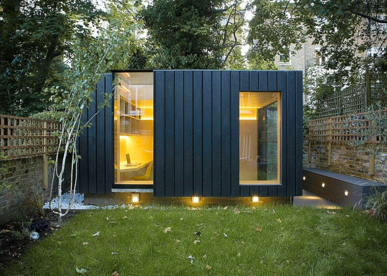 Architizer   Backyard office, Garden cabins, Garden studio