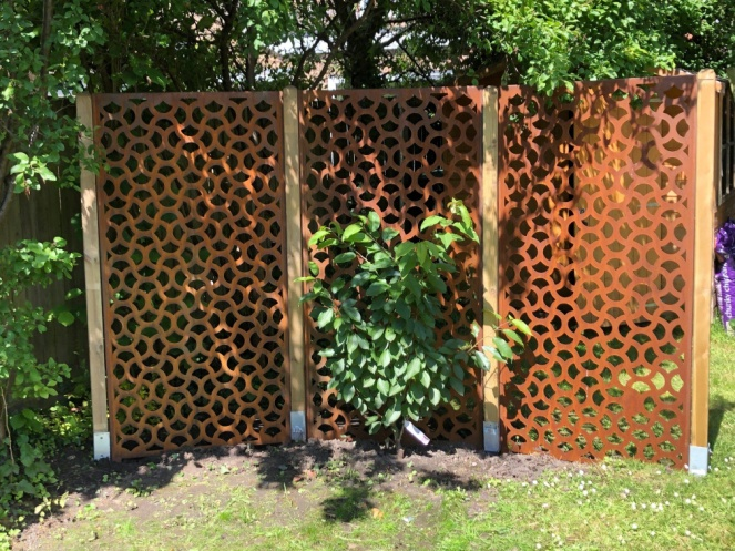 Garden privacy screens and trellises, made from advanced wood composite. No moulding, ageing or war… | Metal garden screens, Garden screening, Garden privacy screen