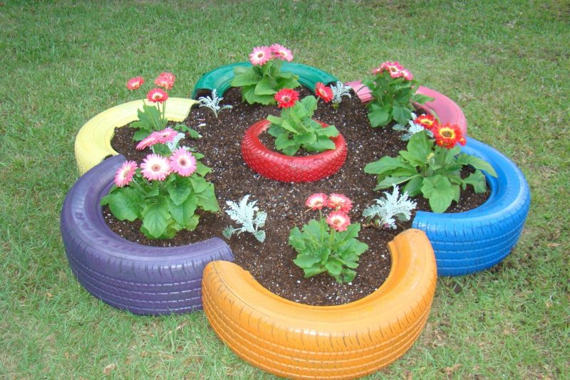 Tire Planters - Home Decor Designs