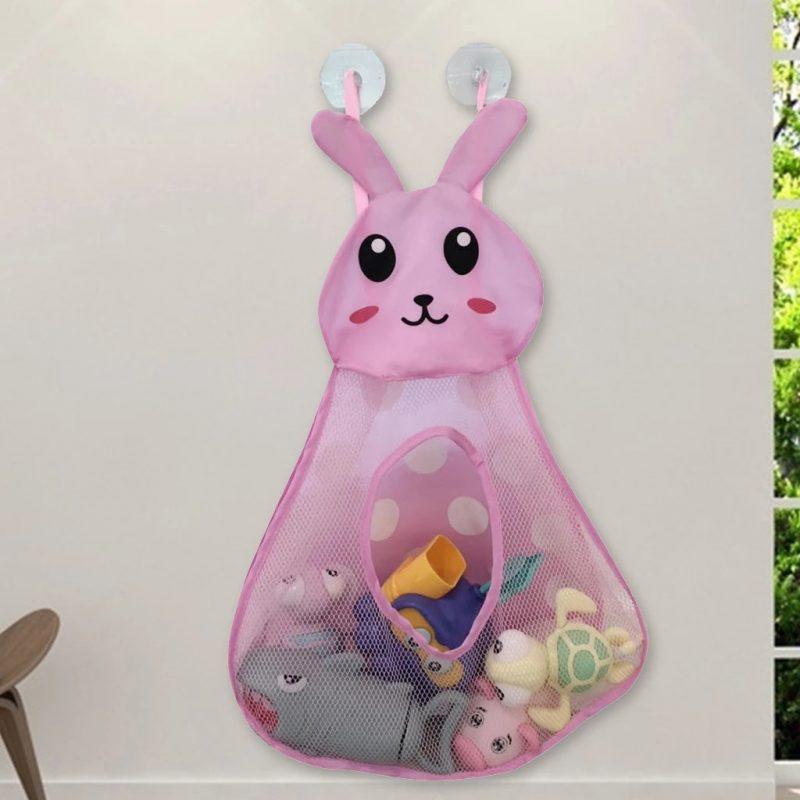 Baby Bathtub Cartoon Rabbit Toy Storage Pocket Mesh Bathroom Wall Suction  Baby Kids Toy Organizer Net Toiletries Neaten Bags Bath Toy  - AliExpress