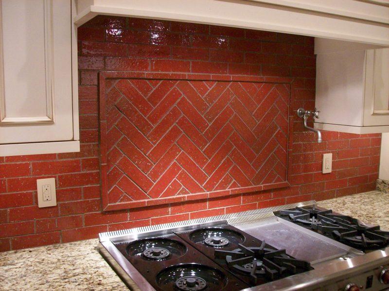 Brick backsplash | MJR Paint and Tile LLC