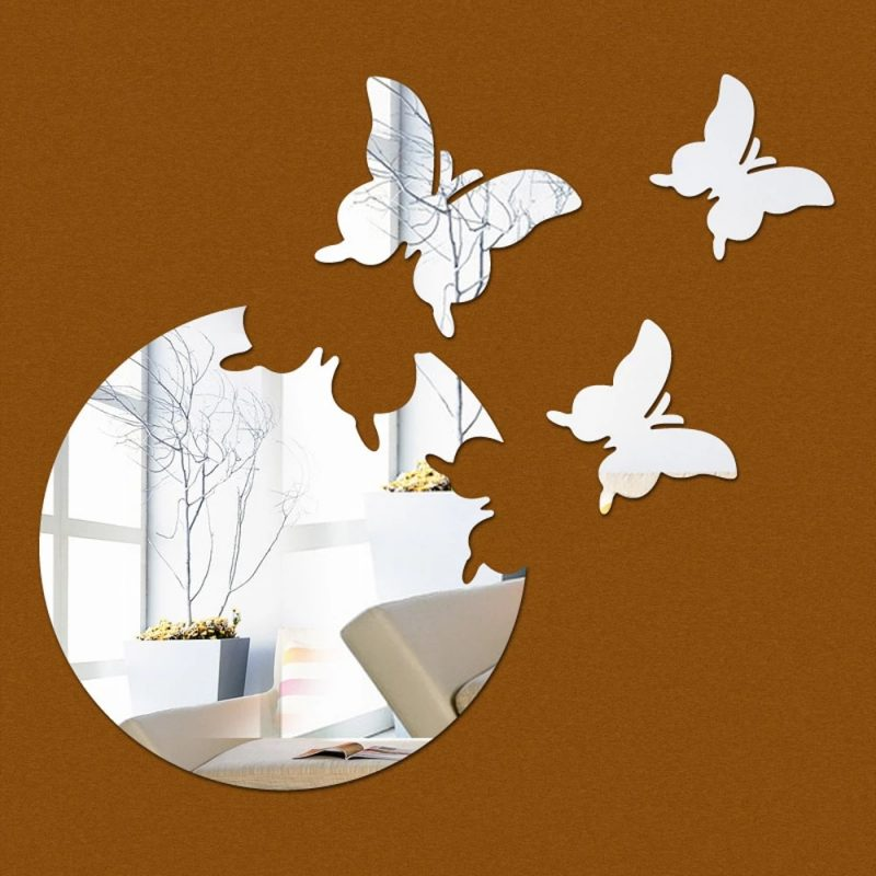 Butterfly DIY Acrylic 3D Mirror Wall Stickers Home Room Decoration WALL ART Decals Wall Decor stickers home decor wall stickers home decor3d mirror wall stickers - AliExpress
