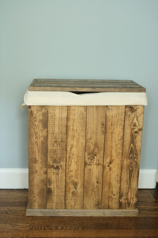 Diy Wooden Laundry Hamper | Wooden laundry hamper, Wooden laundry basket, Wood  laundry hamper
