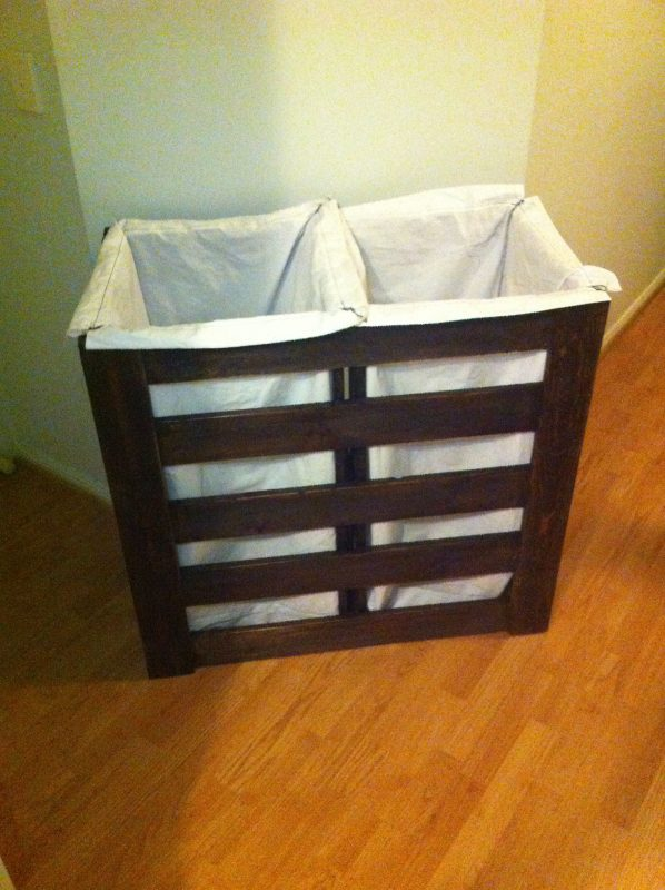 Double pallet laundry hamper To see other stuff we have made check us out  on Facebook at Wood'n'stuff Ad… | Laundry hamper diy, Laundry hamper, Diy  laundry basket