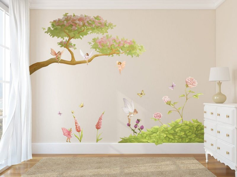 Fairy Woodland Set, beautiful for any little girls room.   Wall decal fairy, Fairy wall art, Girls wall stickers