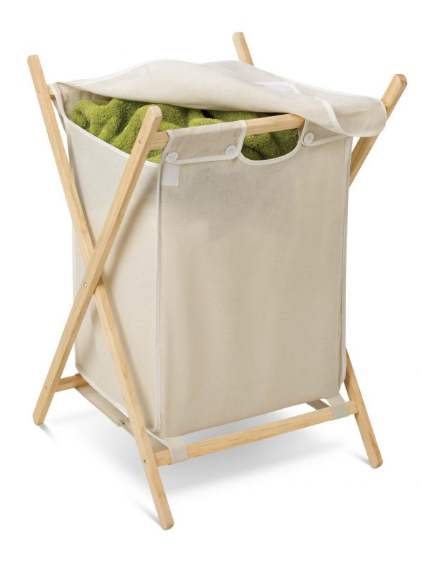 Honey Can Do Folding Laundry Hamper with Removable Bag, Natural/Beige -  Walmart.com - Walmart.com