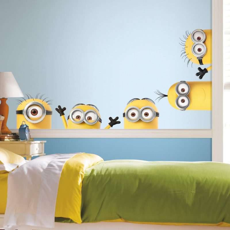 RoomMates - RMK3567GM Despicable Me 3 Peeking Minions Giant Peel And Stick  Wall Decals, Multicolor - - Amazon.com