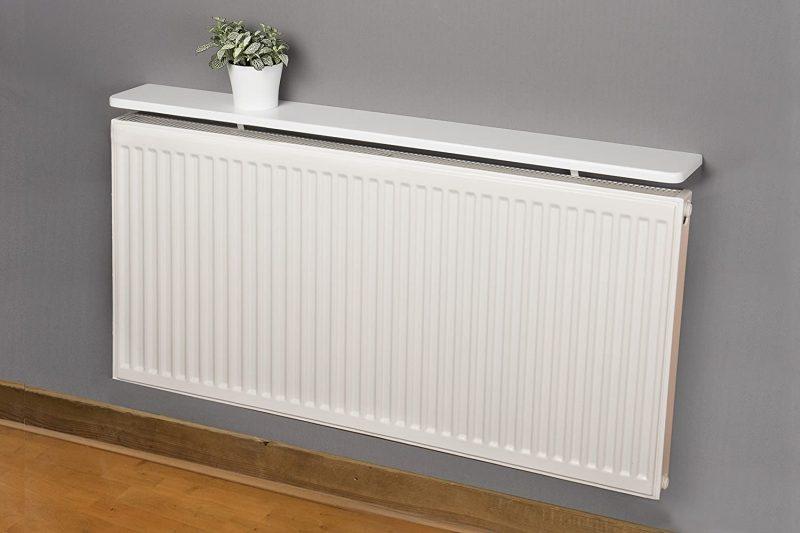 White Rounded Radiator Shelf 48x6 inch 1200x150x18mm: Amazon.co.uk: Kitchen  & Home