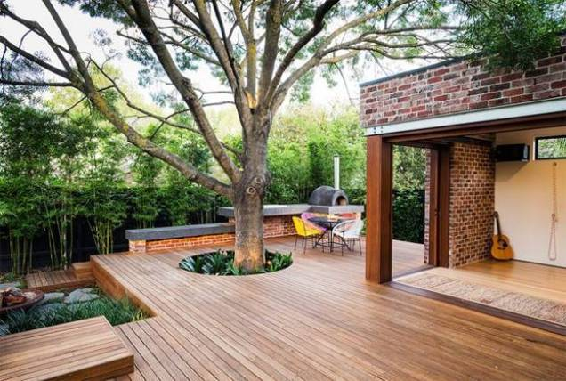 Deck Under The Shelter of a Tree