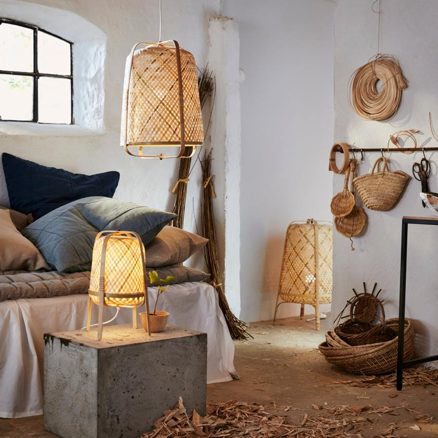 IKEA table lamp made of bamboo