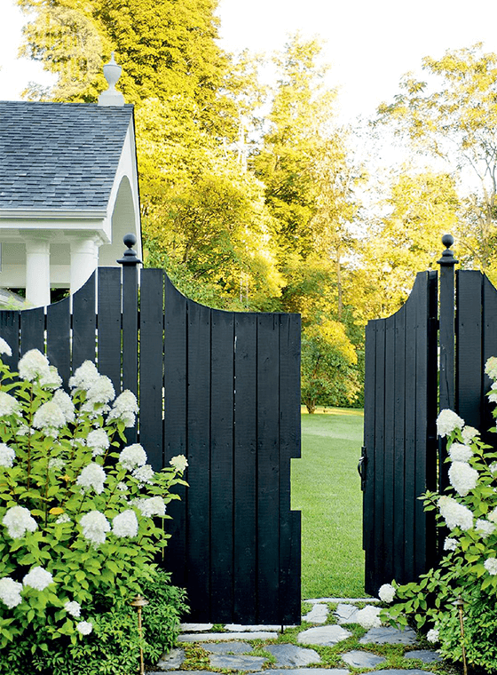 Black Gated Fence