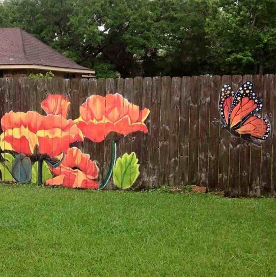Flowers and a monarch butterfly