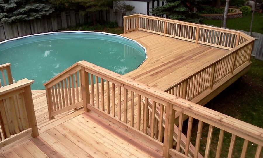 Other Above Ground Pool Deck Unique On Other Throughout Ideas Railing Jbeedesigns Outdoor 14 Above Ground Pool Deck