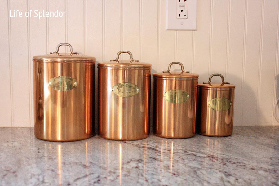 antique kitchen canisters vintage