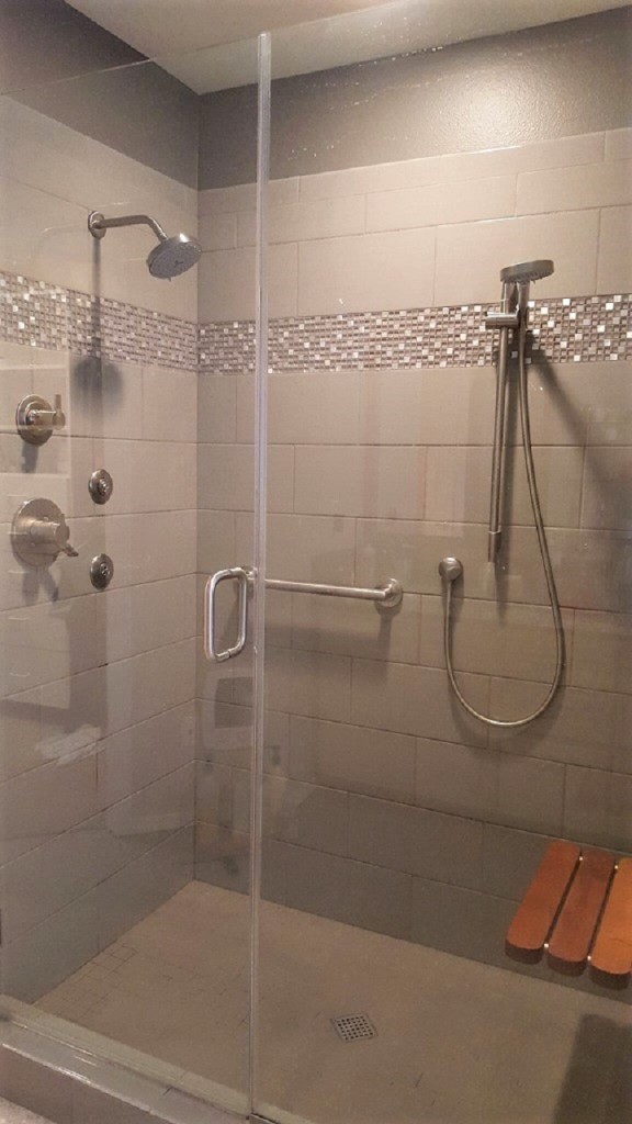 Age-in-place shower