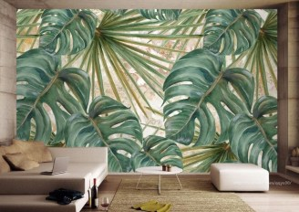 Amazing Painting Wallpaper On Livingroom 02