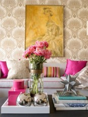 Amazing Painting Wallpaper On Livingroom 03