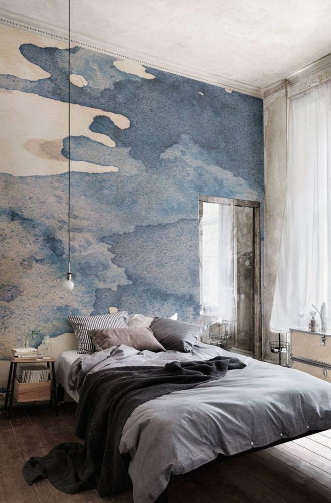 Amazing Painting Wallpaper On Livingroom 06