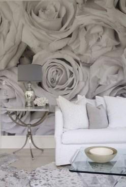 Amazing Painting Wallpaper On Livingroom 16