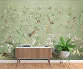 Amazing Painting Wallpaper On Livingroom 20