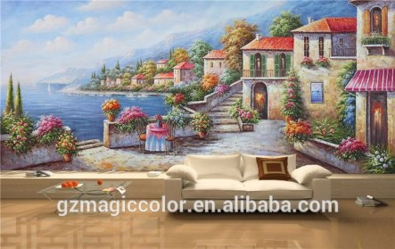 Amazing Painting Wallpaper On Livingroom 35