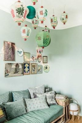 Cozy Green Livingroom Ideas 15